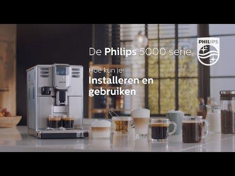 Philips EP5365 Espressomachine 5000serie Hoe installeer en gebruik ik de Espressomachine