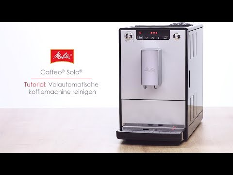Caffeo® Solo® - Tutorial: Volautomatische koffiemachine reinigen