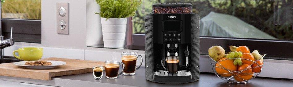 volautomatische espressomachine in keuken