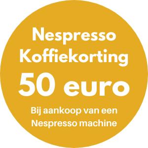 50 euro nespresso koffiekorting actie