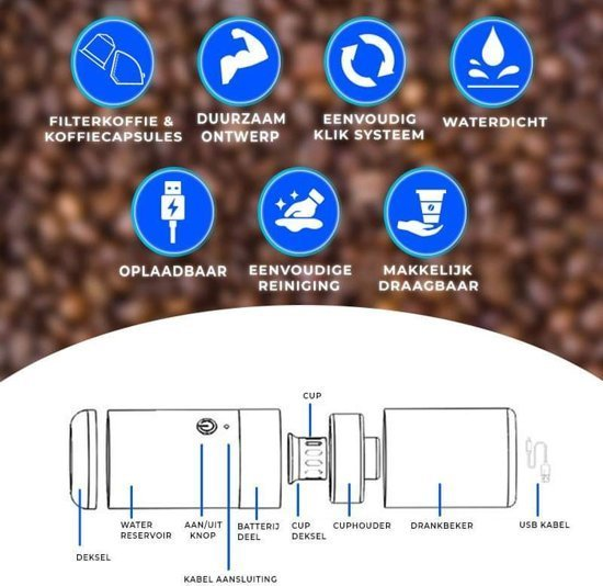 mini koffiezetapparaat