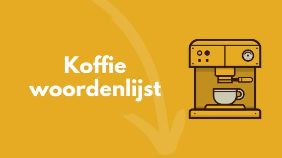 koffie woordenlijst