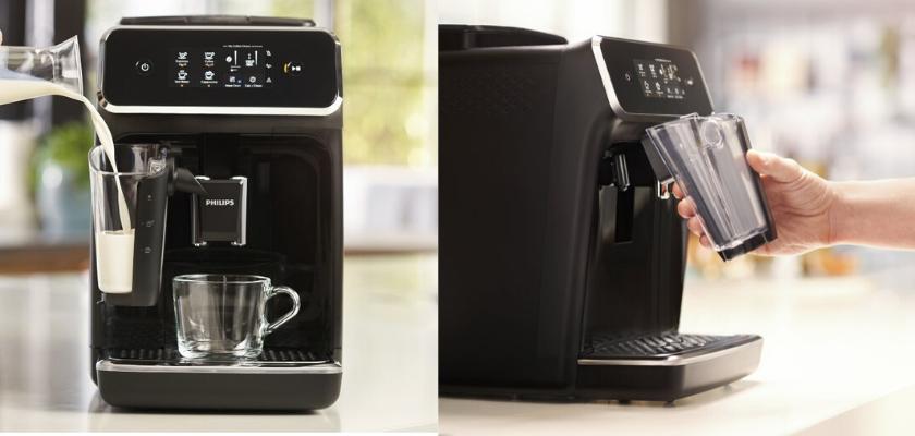 koffiezetapparaat met los melkreservoir