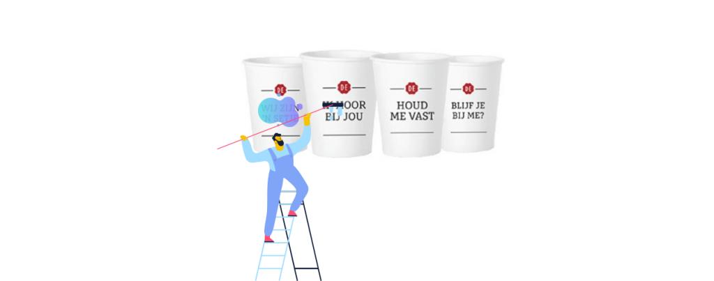 teksten koffiebekers coronaproof