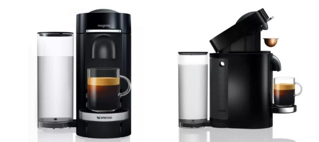 Nespresso Vertuo: voorkant en zijkant