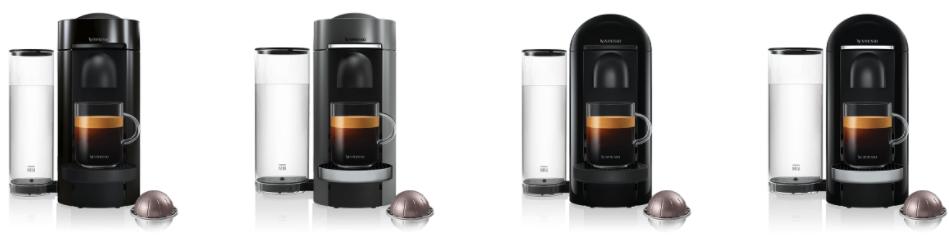 Nespresso Vertuo Plus Deluxe, Round en Cilinder