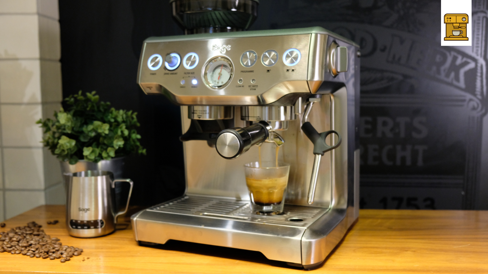 Espresso Brühe mit Sage Barista Express Kaffeemaschine