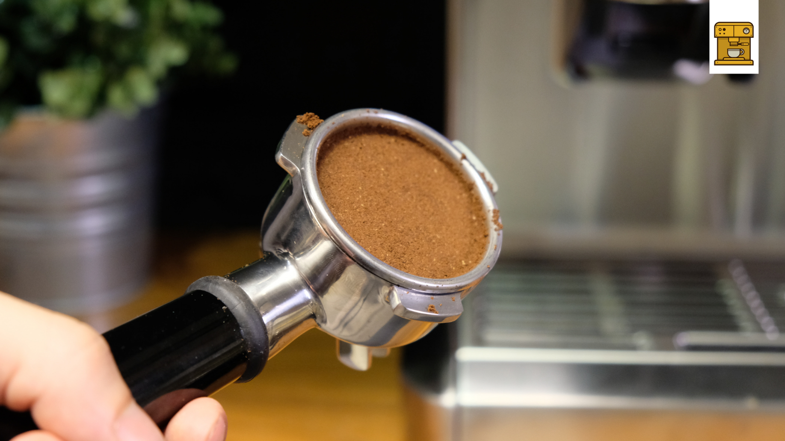 Gestampfter Gemahlener Kaffee