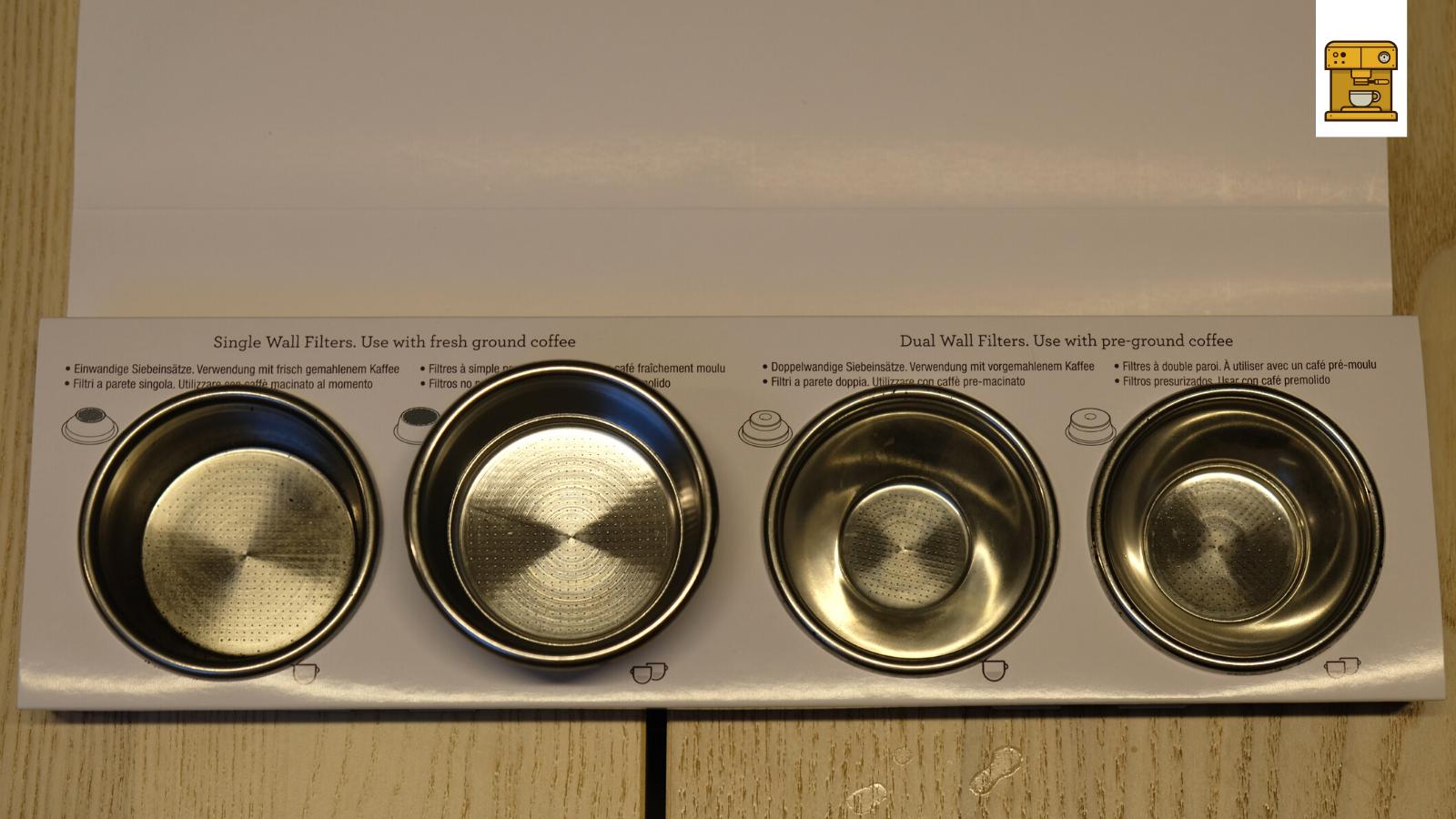4 verschiedene Filtern