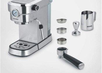 Beste Siebträger Kaffeemaschine Testsieger 2020: SEVERIN ESPRESA PLUS