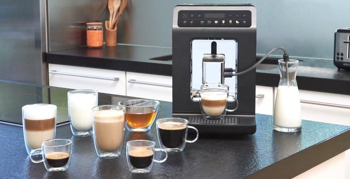 KRUPS Kaffeevollautomat mit Milchschlauch