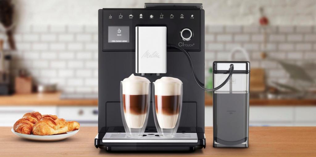 Melitta Kaffeevollautomat mit Milchbehälter