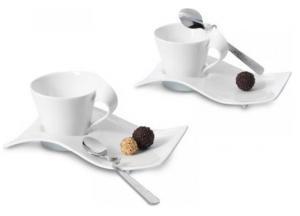 Villeroy & Boch NewWave Cappuccinotassen Set Porzellan