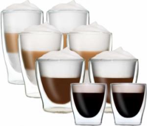 DUOS 8er Set doppelwandige Thermo Cappuccino Gläser