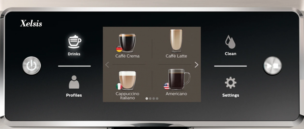Saeco Xelsis 7683 Touchscreen Bedienfeld