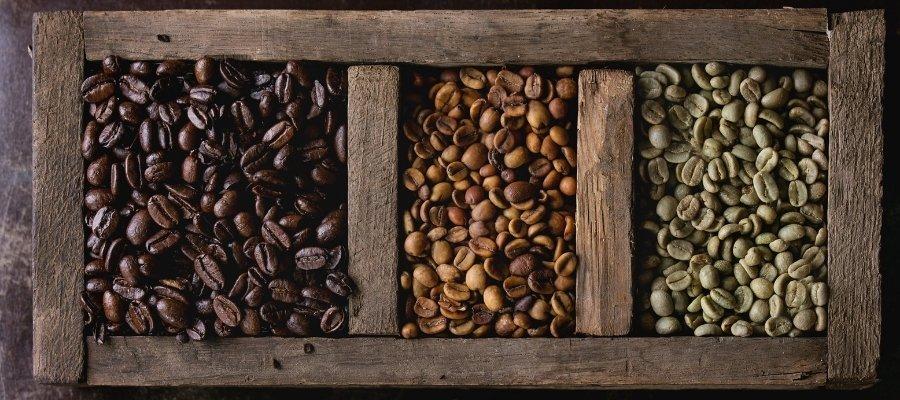 Farbe von Kaffeebohnen