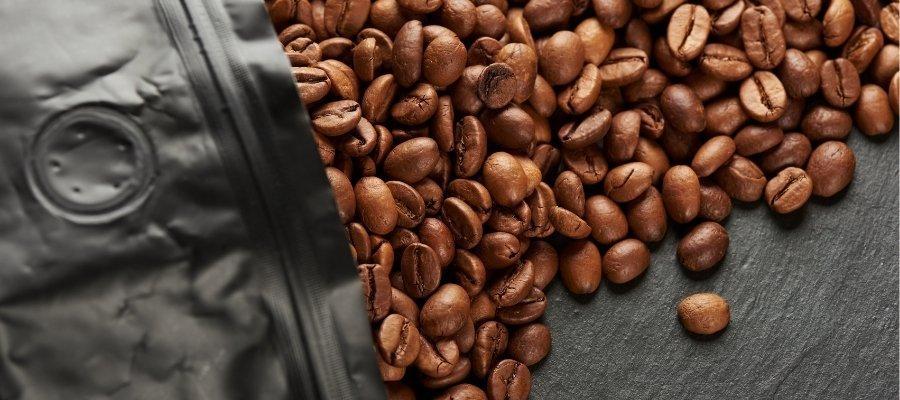 verpakking koffie met ventiel
