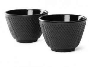 Bredemeijer Asia Jang Kopjes - Gietijzer - zwart - set van 2 - 80 ml