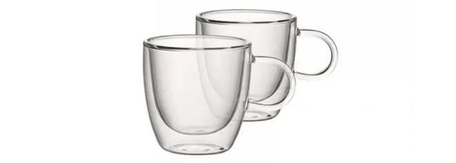 glazen espresso kopjes van Villeroy & Boch