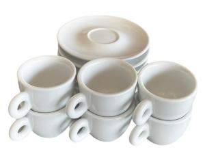 Witte espresso kopjes met schotel (50 ml)