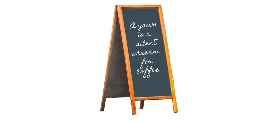 krijtbord koffie corner