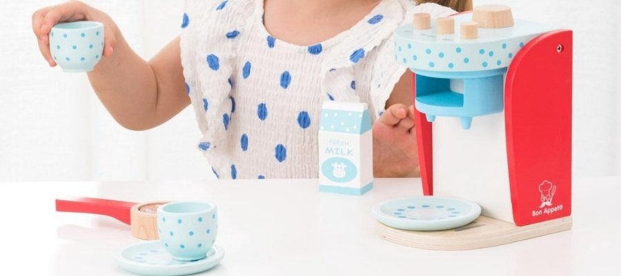 New Classic Toys speelgoed koffiezetapparaat